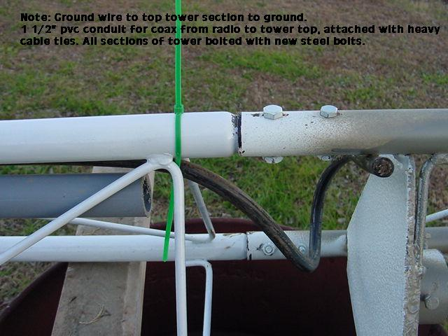 My first cb radio tower - Commercial grade exterior caulking ...