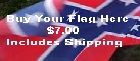 Honor your Confederate Ancestors. Buy a Confederate Battle FlagToday. Lasts up to 3 months flying high.  Total  Cost Shipping Included in USA $6.00.